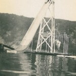 25 Foot High Slide At Devil's Lake, Wisconsin.