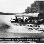 Entering Lake Delton by Amphibious Duck at Wis. Dells, Wis.