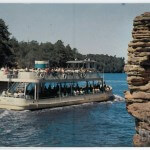 Sight Seeing Boat Passing Chimney Rock, Upper Dells, Wisconsin D