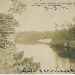 Chimney and Romance Cliff - Dells of the Wisconsin - 1907