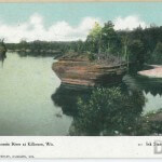 Dells of the Wisconsin River at Kilbourn, Wis. - Ink Stand and S