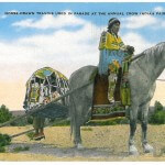 Horse-Drawn Travois used in Parade at the Annual Crow Indian Fai