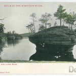Dells of the Wisconsin River. Inkstand and Lone Rock.