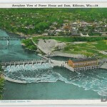 Aeroplane View of Power House and Dam, Kilbourn, Wis. —34