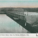 The Dam and Power House from Up Stream, Kilbourn, Wis.