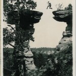 Leaping the Chasm at Stand Rock Dells of the Wisconsin River - K