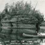Lone Rock in the Lower Dells