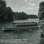 "Tour Boat "" Mary Jane"" at Chimney Rock. Wisconsin Dells, Wis."