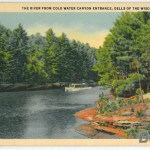 The River From Cold Water Canyon Entrance, Dells of the Wisconsi