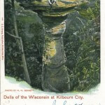 Stand Rock. Dells of The Wisconsin At Kilbourn City, Wis. 1900