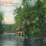 Steamboat Rock. The Dells Of The Wisconsin River