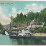 Steamer Landing at the Larks, Dells of the Wisconsin River.