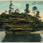 Sugar Bowl Rock, Dells of the Wisconsin River - 3723