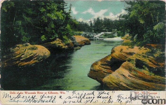 Vintage Wisconsin Dells Rock Formations