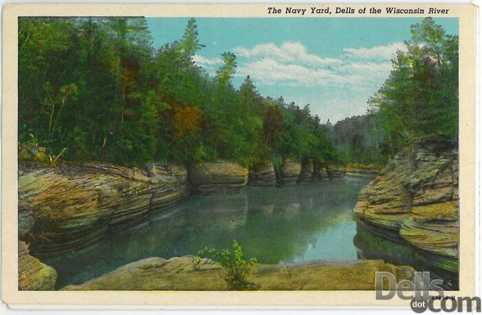 Vintage Wisconsin Dells Rock Formations