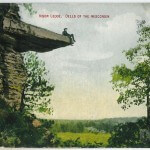 Visor Ledge, Dells of the Wisconsin River 1909