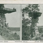 Vizor Ledge and Stand Rock. Wisconsin Dells, Wis