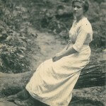 A Woman Poses at Artist's Glen.